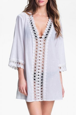 Plunging Tunic Cover Up