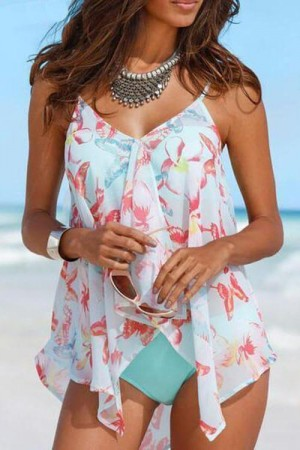 Bandage Cover Up Sexy Backless Tankini