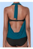 Cowl Neck Twofer OnePiece Swimsuit
